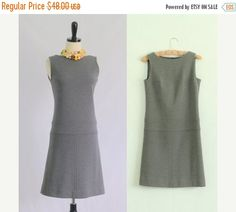 Vintage 1960s Dress 60s Dress Womens Winter by SassySisterVintage