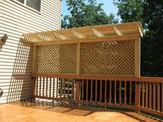 Privacy Deck with pergola.  Layne Deck