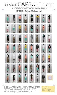 Look how many ways you can use the same pieces to make at least 55 outfits!!