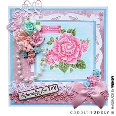Cuddly Buddly Clear Stamps - Rose Collage CBS0018 < Craft Shop | Cuddly Buddly Crafts