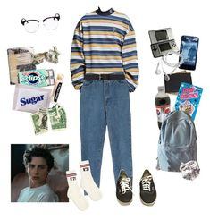 """that description of a guy in independent stories or movies??"" by nadyaarw on Polyvore featuring Burberry, Vans, Chapstick, Royce Leather, River Island, Nintendo, WithChic, N°21, Yves Saint Laurent and men's fashion"