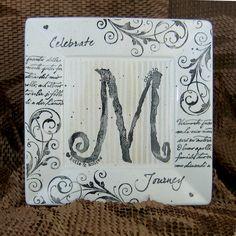 Personalized Monogram Wedding Platter