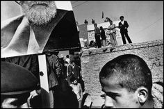 Gilles Peress. IRAN. Tabriz. 1980. Demonstration in favor of the leading opposition figure Ayatollah Kazem Shariatmadari.