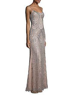 9498eea9ebfbd Basix Black Label - Sequined Slip Gown Ball Dresses, Prom Dresses, Saks  Fifth Avenue