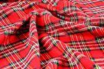 Cotton Tartan Check Fabric - 10 meter length