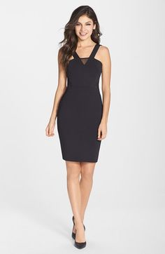 French Connection 'Sicily' Scuba Body-Con Dress available at #Nordstrom