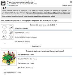Dans l'objectif d'établir un projet de Club 2015-2016 solide, adapté aux attentes et d'apporter une prestation améliorée, nous avons mis en ligne un sondage destiné aux joueurs(es) du Club  http://www.eauze-tt.fr/cest-pour-un-sondage/#more-521