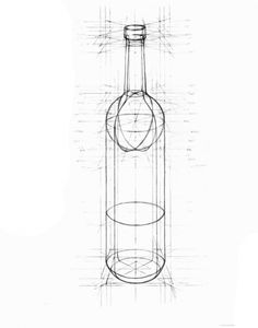 Pencil Drawing Design pencil drawing of an empty wine bottle - The Wine Bottle – I spent 4 months working with this empty wine bottle. Step pencil on drawing paper Step computer illustration Step computer illustration of shadows Perspective Drawing Lessons, Perspective Art, Geometric Shapes Art, Geometric Drawing, Basic Drawing, Technical Drawing, Pencil Art Drawings, Art Sketches, Bottle Drawing