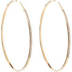 Lana 14k Femme Large Hoop Earrings With Diamonds ($3,220) ❤ liked on Polyvore featuring jewelry, earrings, accessories, bijoux, post earrings, diamond hoop earrings, 14 karat gold earrings, white hoop earrings and 14k earrings