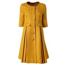 Orla Kiely silk linen coat...can double as a dress or coat.  Super style