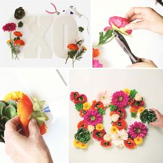 Make your own floral monogram letters with silk flowers from afloral.com! Great for any DIY wedding or even to decorate your home. #diywedding  Design by My Wedding Magazine Wedding Flower Arrangements, Floral Arrangements, Wedding Flowers, Diy Wedding Supplies, Do It Yourself Projects, How To Preserve Flowers, Diy Wedding Decorations, Monogram Letters, Color Trends
