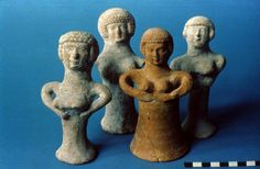 Figurines Collection of the Canaanite Mother Goddess 'Asherah' (Israel Museum, Jerusalem)