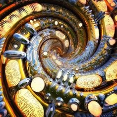 VOR-TECH #spiral #vortex #psy #imagination #zbrush #keyshot #sculpting #glow #metal