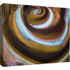 Dean Uhlinger Top Down Gallery-Wrapped Canvas, Size: 24 x 36, Blue