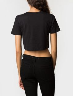 S Crown Embroidered Crop Tee