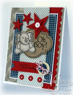 Love it! So nice that it's not pastels on a baby card!