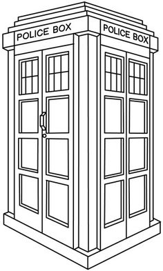 Hand embroidery Tardis Pattern