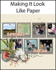 MakingItLookLikePaper-Using drop shadows   #digitalscrapbooking #photoshopelements #photoshopelementstutorial