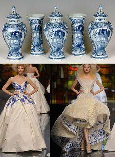 A porcelana como motivo para a coleção.
