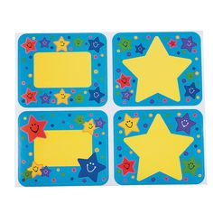 Make learning names easy with our Super Star Name Tags. Each self-adhesive paper tag has a colorful star theme that kids can't resist. Classroom Supplies, Classroom Themes, Star Students, College Students, Nametags For Kids, Star Of The Week, Book Bins, School Frame, Painted Boards