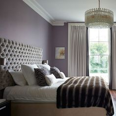 12 Awesome Purple Bedroom Ideas - Page 9 of 12 - Bedroom Design Ideas Small Room Bedroom, Trendy Bedroom, Small Rooms, Master Bedroom, Bed Room, Dream Bedroom, Small Spaces, Purple Bedroom Design, Purple Bedrooms