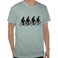 Vintage Old Fashion Bicycles Cyclists Ride T-shirts