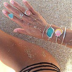 Sunrise Shell Bangle + Sunrise Shell Ring + more Hawaiian Sea Kisses!!!