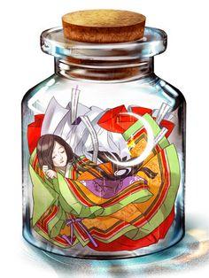 Tags: Anime, Bottle, Pixiv Bottle, 600x800 Wallpaper, In a Bottle, Junihitoe, 3:4 Ratio