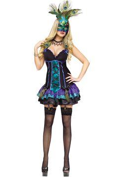 Midnight Peacock Adult Costume for Halloween - $39.95 #mardigras #costumes