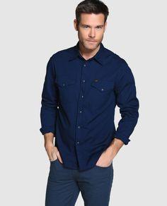 Camisa vaquera de hombre Lee slim estampada azul · Lee · Moda · El Corte  Inglés bd0e16c8cc5f