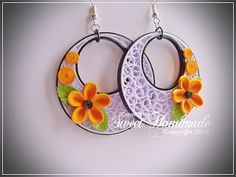 Quilling Earrings - made with 3mm and 1mm paper stripes http://sweetiehandmade.blogspot.ro