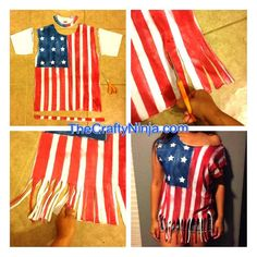 DIY american flag shirt