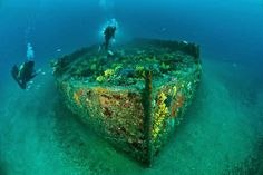 Australia urged to ratify UN convention to protect endangered war wrecks such as this barge off the coast of Anzac Cove, Gallipoli...since such wrecks are being torn apart and looted in waters outside the nation's control.
