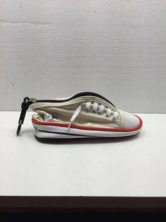 Vintage Estate Converse Chuck Taylor Sneaker Shoe White Pencil Case  Wristlet bag purse Zipper unique d9d67fa8f
