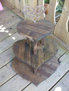 Rustic Wooden Wedding Cupcake Stand / Wedding Cake Stand/Heart Shaped Cupcake Stand on Etsy, $69.99