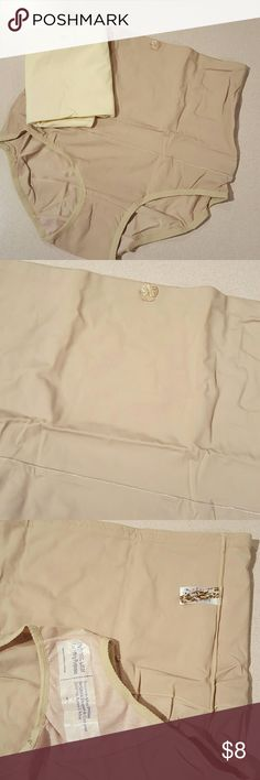 Carol Wior tummy slimmer high waist panties Nylon spandex blend bundle of 2 Slimmer panties. Panties have tummy control from the top of the leg up to the waist. The crotch has a cotton lining. One is nude the other is ivory. Brand new with tags and never worn. Carol Wior  Intimates & Sleepwear Shapewear