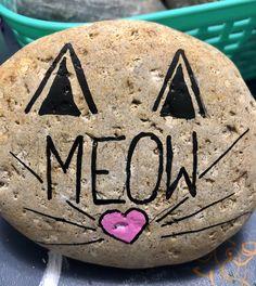 Painted Rock Meow-Cat #rockvisaliawithkindness