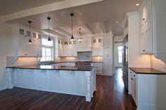 Brighten kitchen that has black granite | Honed Black Granite Counters Design Ideas, Pictures, Remodel, and ...