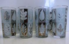 Libbey Glass  Water Glasses Tumblers Silver Rim by MarieWarrenArts