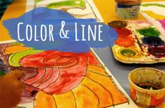 AWESOME website for art lessons!    Line-and-Color-Art-lesson1