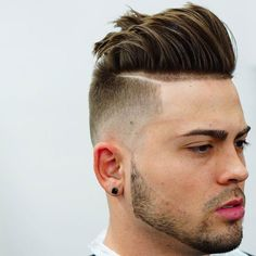 Brushed Back Hair + Undercut Fade + Part - Best Men's Hairstyles: Cool Haircuts For Guys Haircut Names For Men, Cool Mens Haircuts, Cool Hairstyles For Men, Popular Haircuts, Different Hairstyles, Men's Haircuts, Undercut Hairstyles, Undercut Fade, Disconnected Undercut