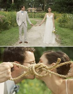 tie the knot. idk how to tie a know but this is too darn adorable!