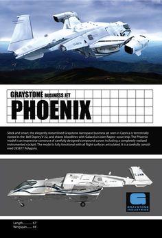 Greystone business jet Phoenix from Caprica TV show