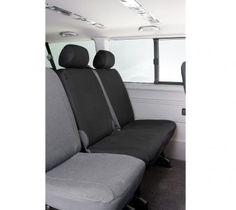VW T5 Polyester Transportersitzbezüge Doppelbank hinten passend ab BJ 04/2003 bis heute