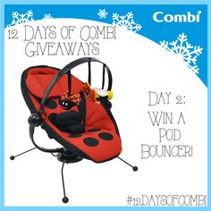 Enter to win a Pod Bouncer in LadyBug for Day 3 of the #12DaysofCombi Giveaways! www.facebook.com/usacombi