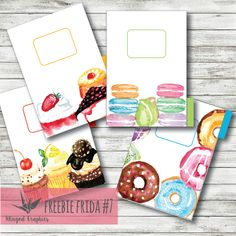 FREE PRINTABLE PLANNER DIVIDERS IN A5 PERSONAL AND POCKET SIZE       Birthdays make me think of cakes which in its turn makes me want to p...