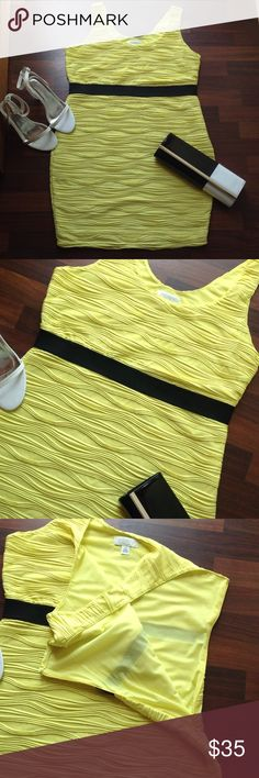 💕Host Pick 💕 Dress Cute yellow dress with black band and side zipper never worn Forever 21 Dresses Mini
