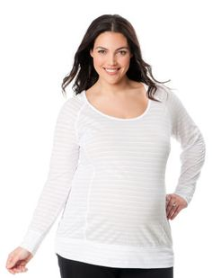 Plus Size Long Sleeve Hooded Maternity T Shirt