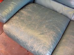 how to repair really old, badly cared for leather furniture! I sooooooo need to do this!