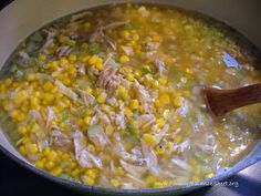 Chicken Corn Soup - add a lightly beaten egg to thicken the broth